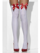 White Hold-Ups With Red Bow & Anchor Detail
